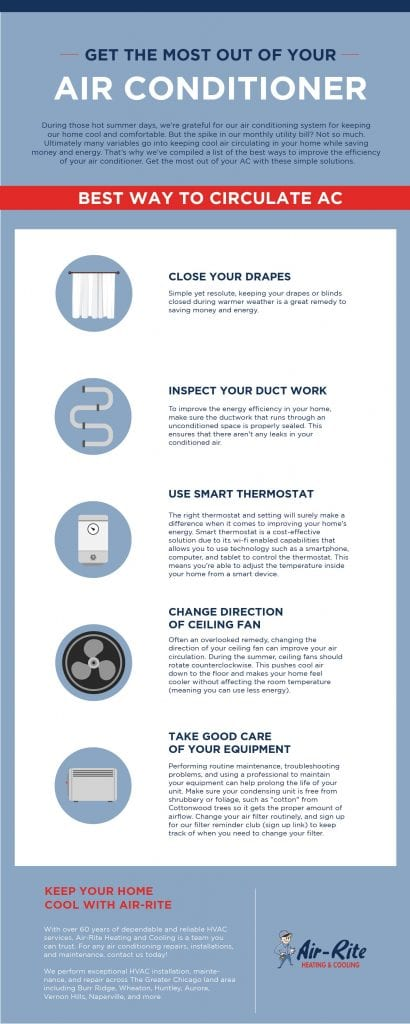 get the most out of your air conditioner infographic