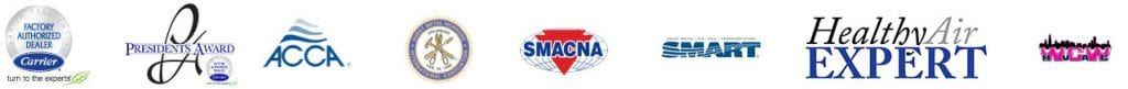 hvac service and carrier logos
