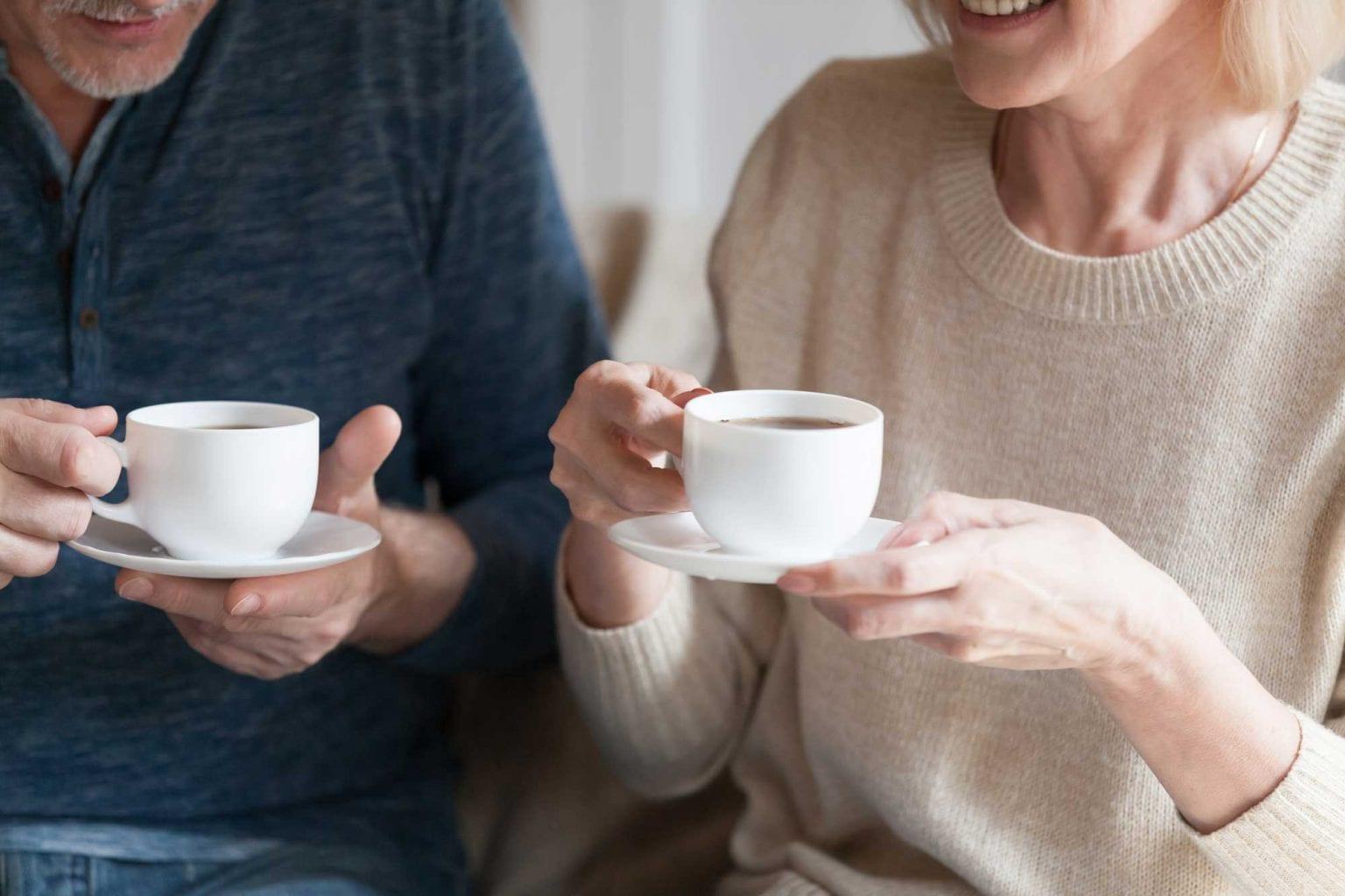 couple enjoying coffee air rite
